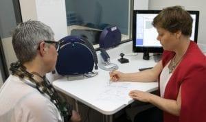 Explaining the hearing test